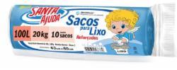 SACO LIXO SANTA AJUDA C/10 SACOS 100L AZUL