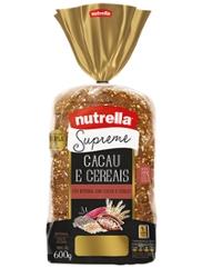 Pão Nutrella Cacau E Cereais 600g