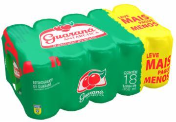 Pack com 18 Refrigerante Guaraná Antarctica 350ml Lata