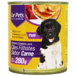 Alimento Cães Filhote Lata Carne 280G Le Pets