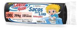 SACO LIXO SANTA AJUDA C/10 SACOS 100L PRETO