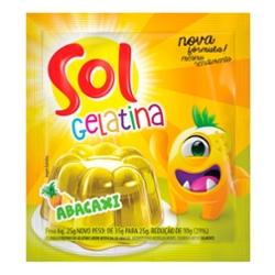 Gelatina Sol 25g Abacaxi