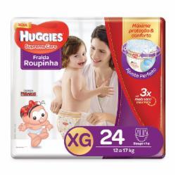 Fralda Huggies Supreme Care Roupinha XG com 24