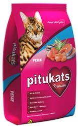 Alimento para Gatos 500g Pitukats Peixe
