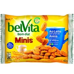 Biscoito Belvita Mini 42g Leite e Aveia