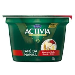 Leite Ferm Activia Cafe 170g Mor/Ban/Mac