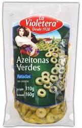 Azeitona La Violetera Verde 160g Fatiada Doy Pack