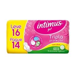 Absorvente Intimus Gel Tr Prot Lv16 Pg14 com Ab Seca