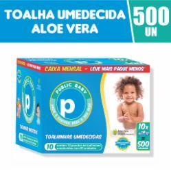 Toalhinhas Umedecidas Public Baby Aloe Vera Caixa Mensal com 500