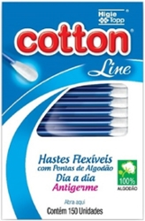 Hastes Flexiveis Cotton Line com 150