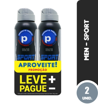 Kit Des Aero Public 150ml Men Sport com 2 Lv+Pg-