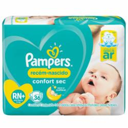 Fralda Pampers Confort Sec RN+ com 36