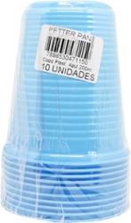 Copo Plast Color Petter Pan Azul200