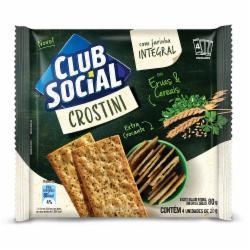 Biscoito Club Social 80g Crostini Ervas e Cereais