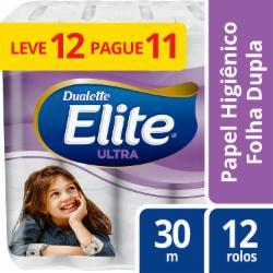 Papel Higiênico Elite Folha Dupla Leve 12 Pague 11 rolos 30m