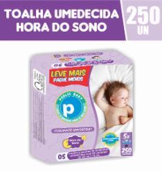 Toalhinhas Umedecidas Public Baby Hora do Sono com 250 Leve Mais Pague Menos