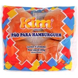 Pão Hamburguer Kim 200g com 4