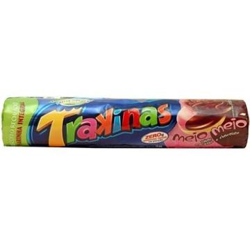 Biscoito Trakinas Meio a Meio 136g Morango e Chocolate