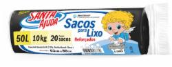 SACO LIXO SANTA AJUDA C/ 20 SACOS 50L PRETO