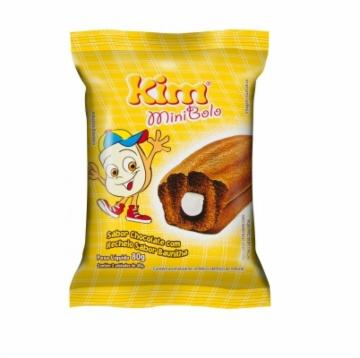 MINI BOLO DUPLO KIM 80G CHOCOLATE C/BAUNILHA