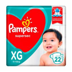 Fralda Pampers Supersec XG com 22