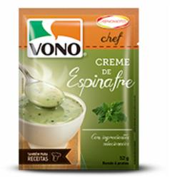 Sopa Vono Chef 52g Creme de Espinafre