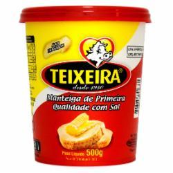 Manteiga Teixeira 500g Pote com Sal