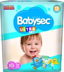 Fralda Babysec Ultrasec XG com 76
