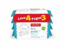 Pack Leve 4 Pague 3 Toalhas Umedecidas Fisher Price sem Perfume