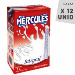 Leite Hércules 1L Integral - Caixa com 12 unidades
