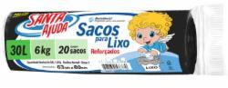 SACO LIXO SANTA AJUDA C/20 SACOS 30L PRETO