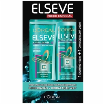 Kit Shampoo + Condicionador Elseve 400+200ml Hydra Detox