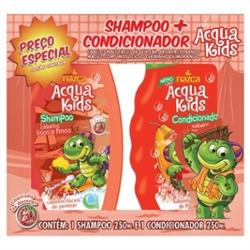 Kit Shampoo + Condicionador Acquakids 250ml Cachos