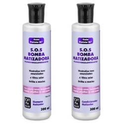 Kit Shampoo + Condicionador Softfix 300ml SOS Bomba Matizadora