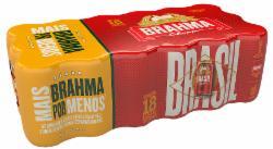 Pack 18 Cervejas Brahma 350ml Lata