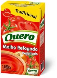 MOLHO TOMATE QUERO 1.050KG REFOGADO TP