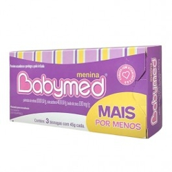 Kit com 3 Pomadas para Assaduras Babymed 45g Meninas