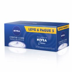 Kit Sabonete Nivea 90g Creme Care Leve 6 Pague 5