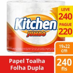 Papel Toalha Kitchen Leve 240 Pague 220 Folhas