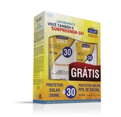 Kit Protetor Solar Gold FPS30 200ml Grátis Protetor Facial 50ml