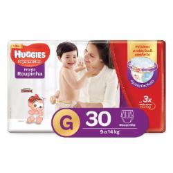 Fralda Huggies Supreme Care Roupinha G com 30