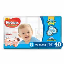 Fralda Huggies Tripla Proteção Mega G com 48