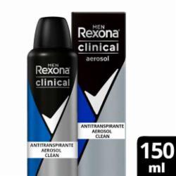 Desodorante Aerossol Rexona Clinical 150ml Masculino Clean