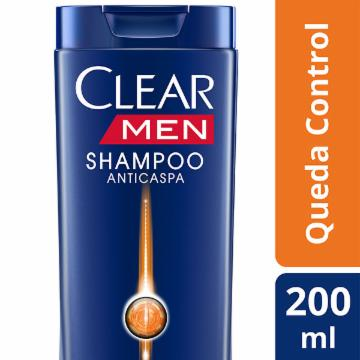 Shampoo Clear Men 200ml Queda Control