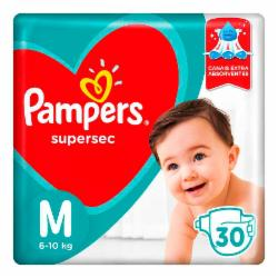 Fralda Pampers Supersec M com 30