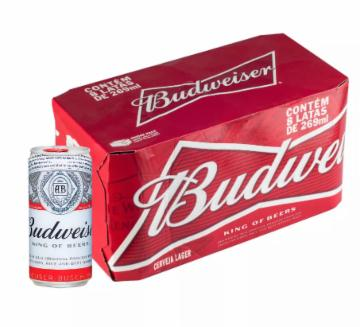 Cerveja Budweiser 269ml Lata - Caixa com 8 unidades