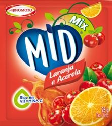 Refresco em Pó Mid Mix 25g Lar/Acerola