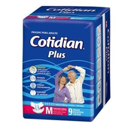 Fralda Adulto Cotidian Plus M com 9