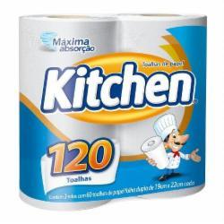Papel Toalha Kitchen 120 Folhas com 2