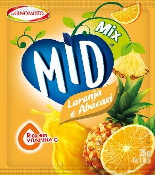 Refresco em Pó Mid Mix 25g Lar/Abacaxi